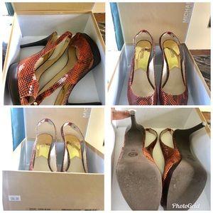 Michael Kors High Heel Peep toe Platforms